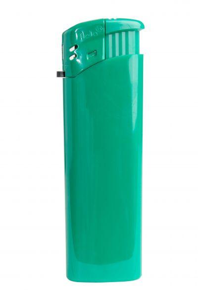 Nola 9 Elektronik Feuerzeug grün nachfüllbar glänzend grün, Kappe und Drücker grün
