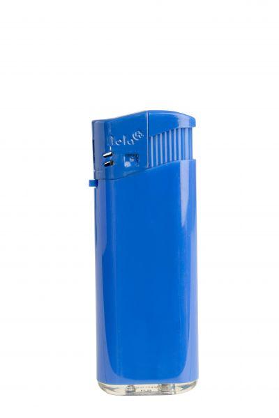 Nola 4 midi Elektronik Feuerzeug blau nachfüllbar glänzend blau, Kappe und Drücker blau