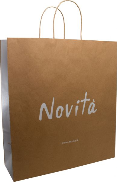 Paper bag BASIC with twisted paper handles 110gr kraft paper - 36x12x40 cm - 1 - colour