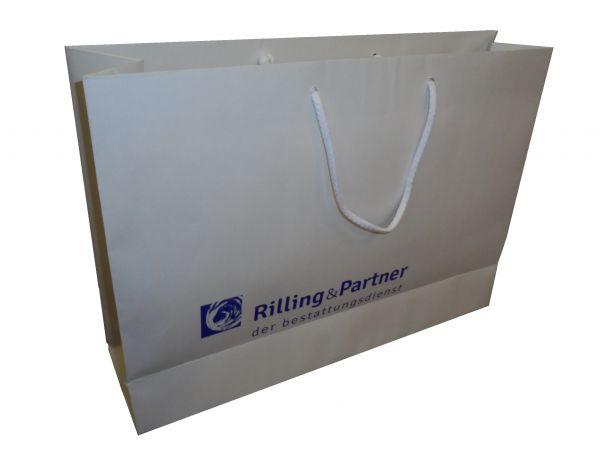 Paper bag BASIC white 10 120gr kraft paper - 53x12x38 cm - 1-colour