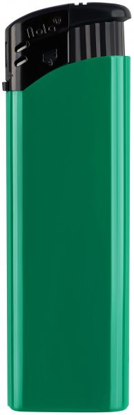 Nola 9 PIEZO lighter HC green refillable body HC green, cap black, pusher black